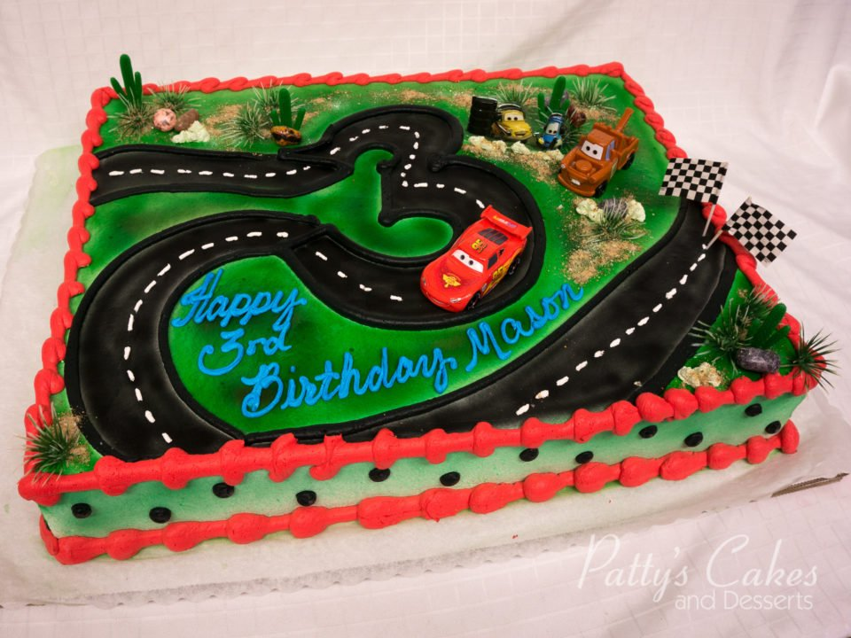 Photo Of A Disney Cars Birthday Cake Pattys Cakes And Desserts