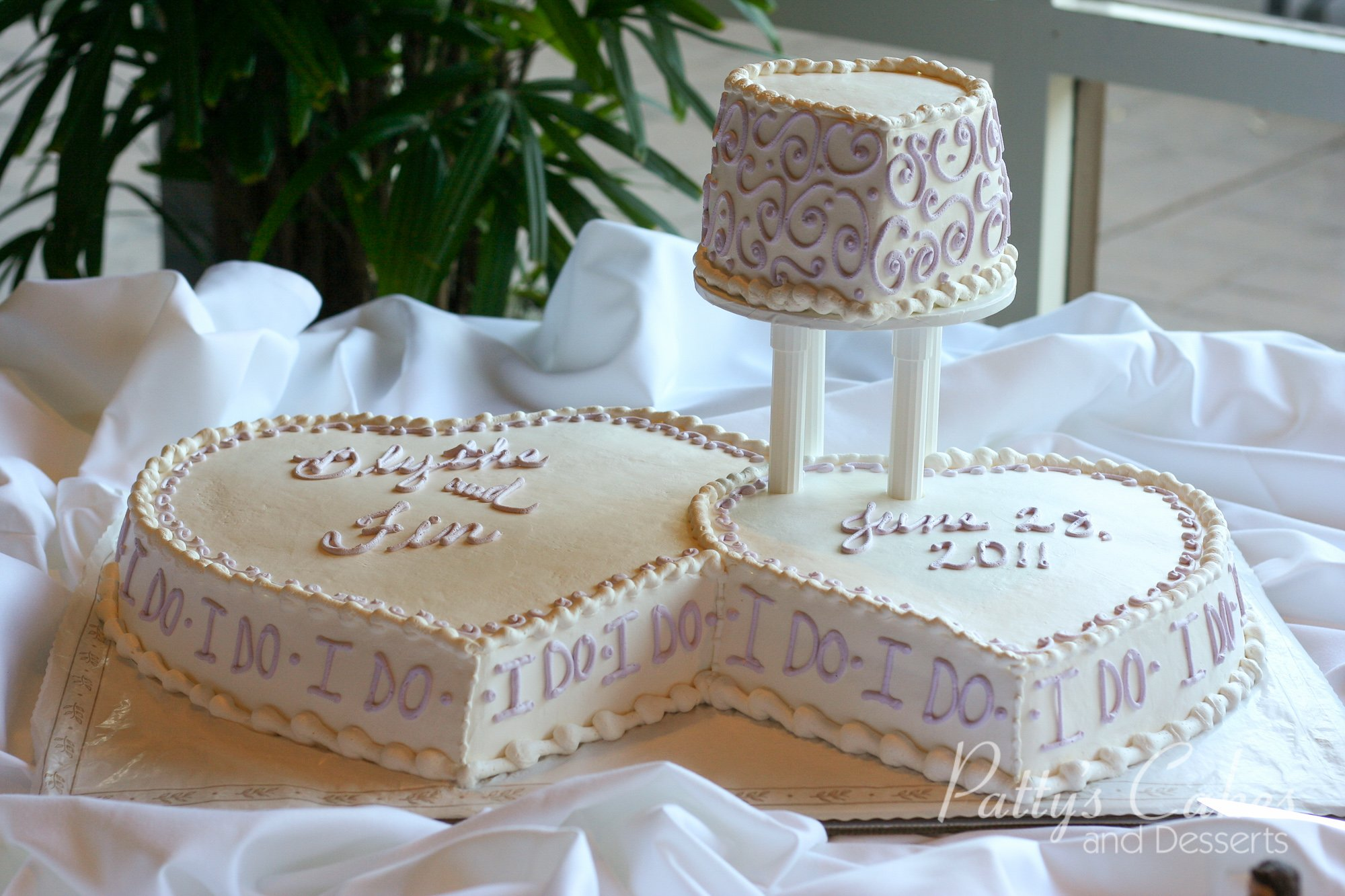 Photo of a double heart wedding cake - Patty's Cakes and ...