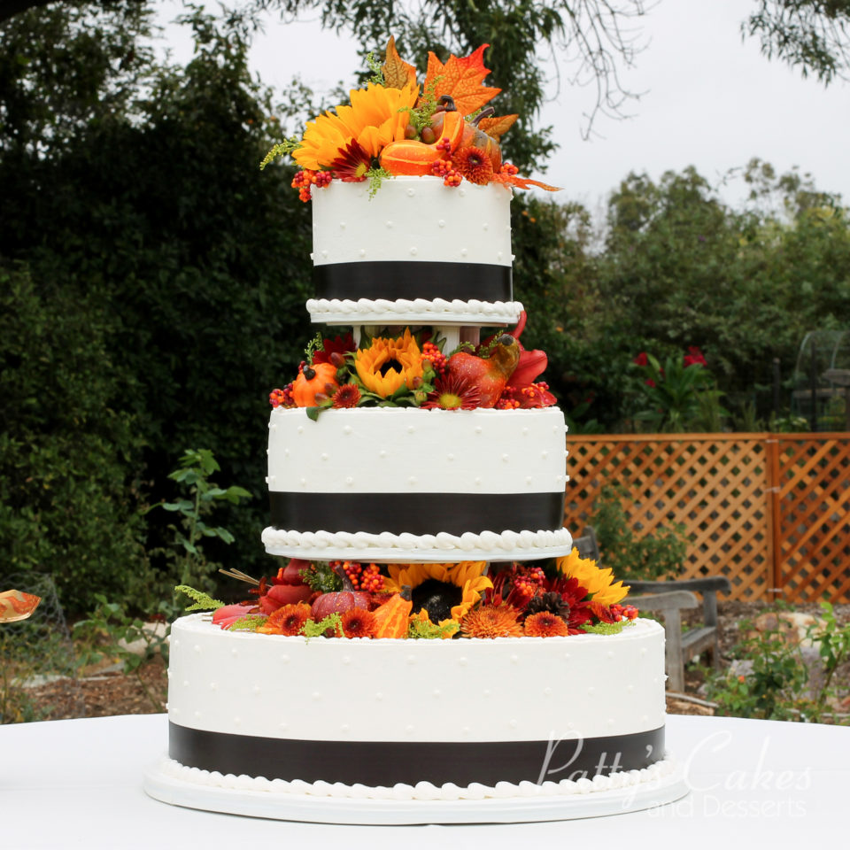 Fall Wedding Cakes.Photo Of A Fall Wedding Cake Patty S Cakes And Desserts