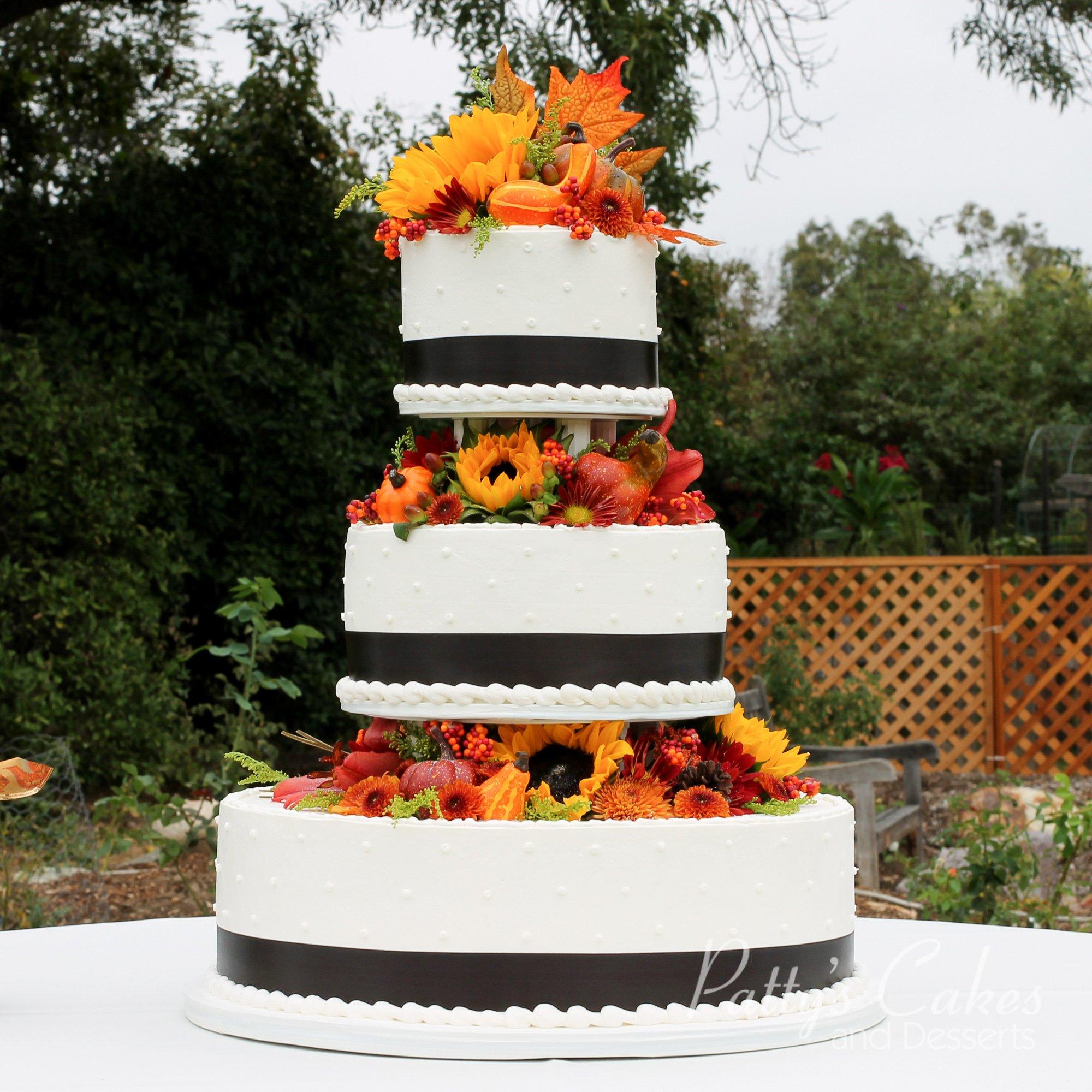 Photo Of A Fall Wedding Cake