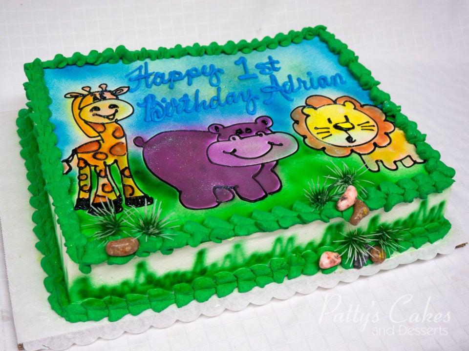 Super Photo Of A Fun Zoo Animals Birthday Cake Pattys Cakes And Desserts Funny Birthday Cards Online Amentibdeldamsfinfo
