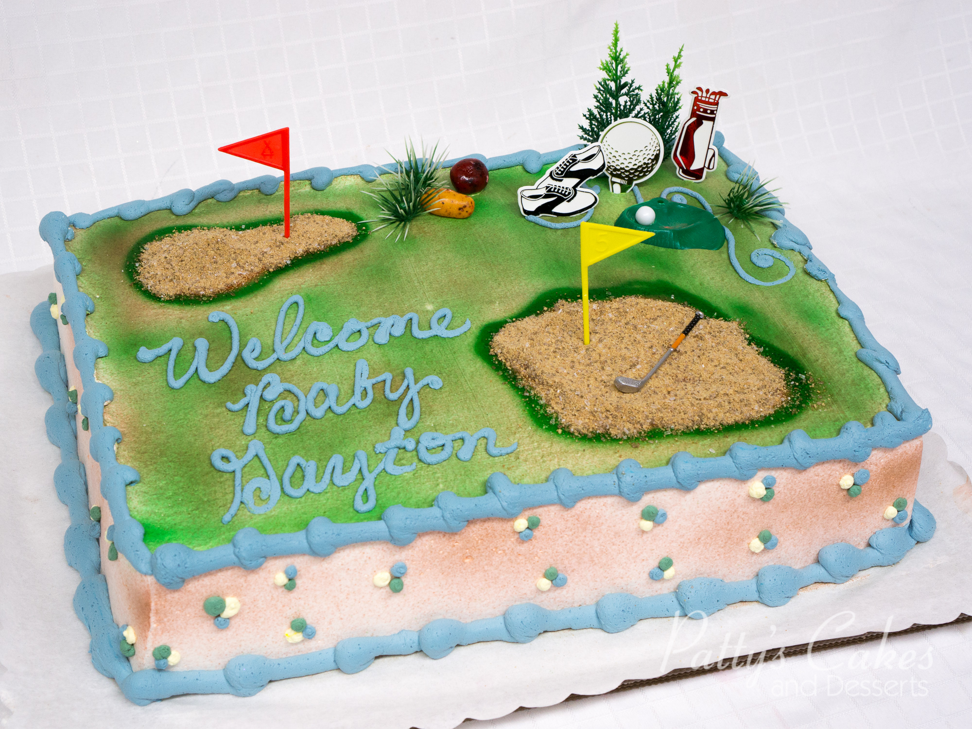 Baby Showers On Saturday Or Sunday ~ Photo of a golf baby shower cake patty s cakes and desserts