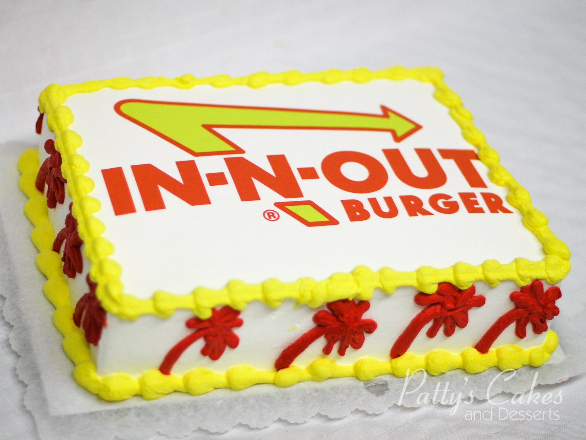 Photo Of A In N Out Burger Cake Patty S Cakes And Desserts