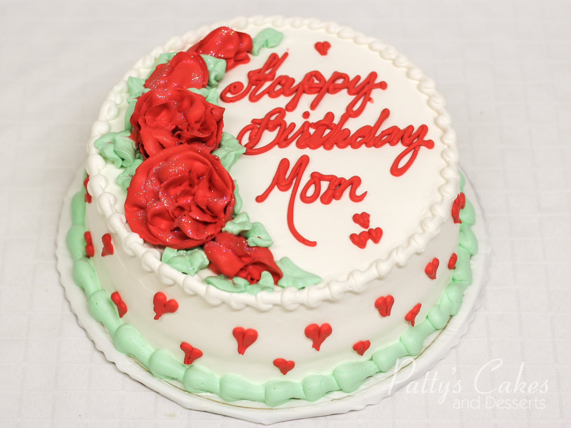 Photo Of A Love Birthday Cake Mom