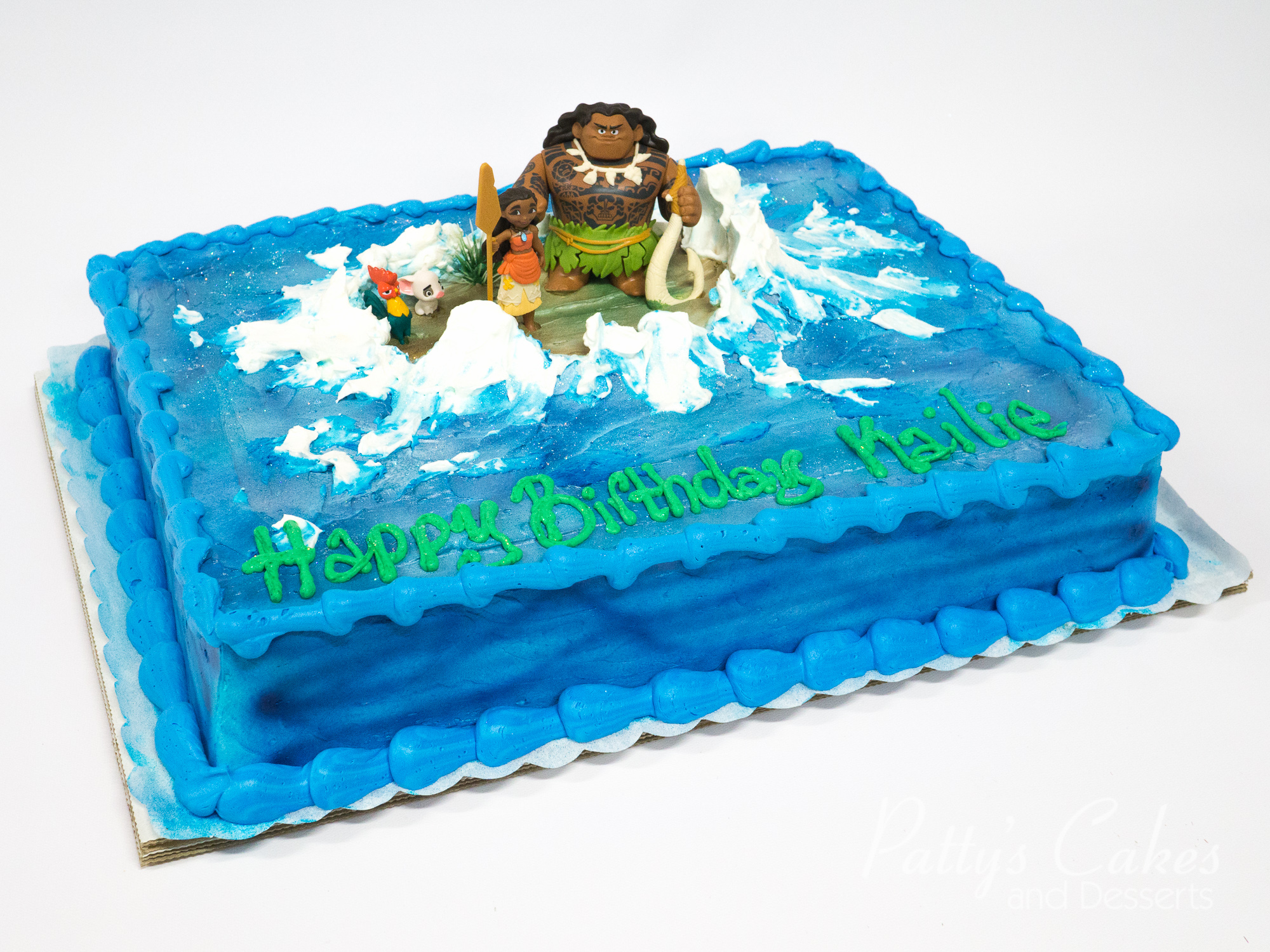 Blue Birthday Sheet Cake