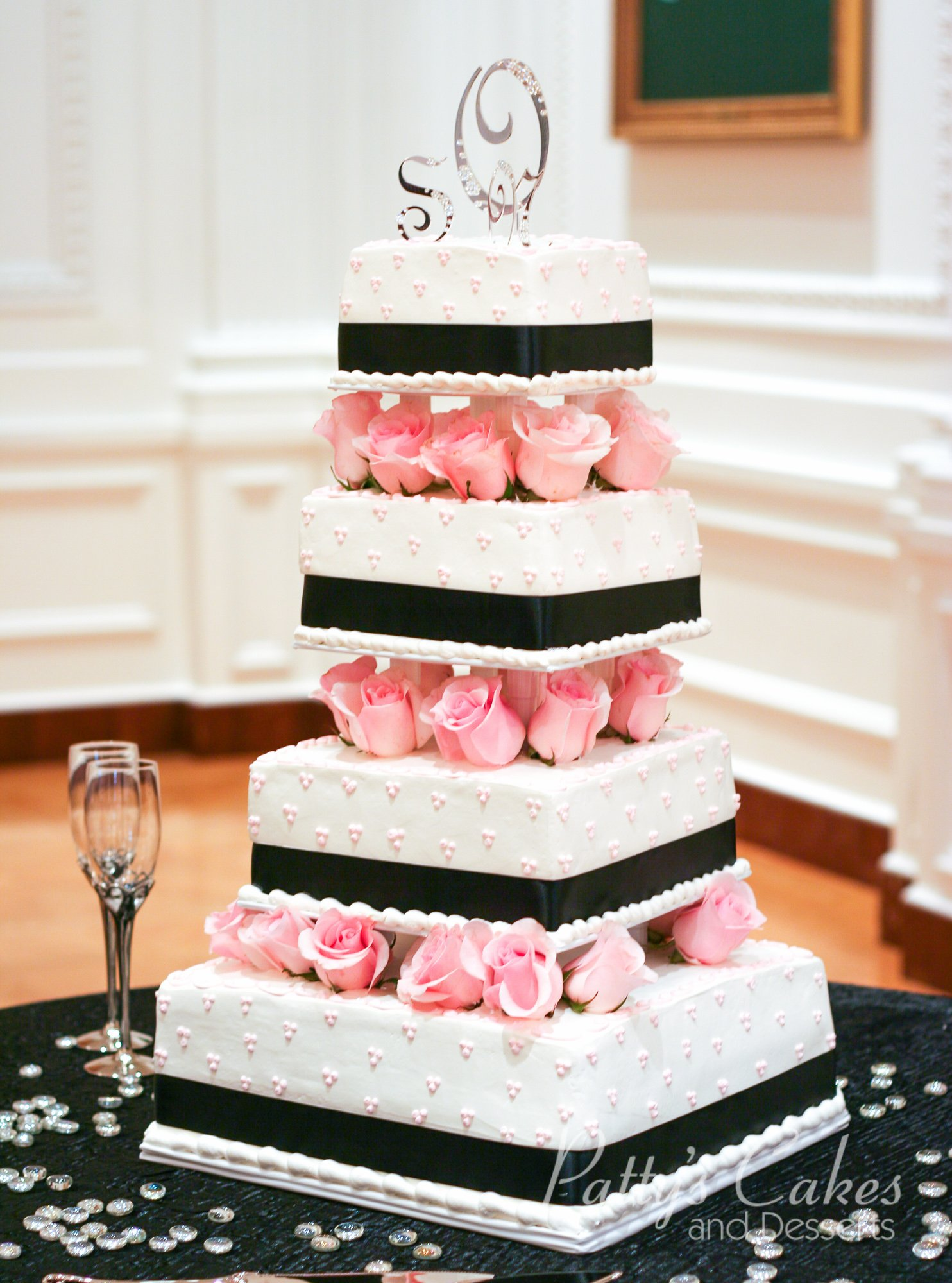 Photo of a off white wedding cake - Pattys Cakes and Desserts