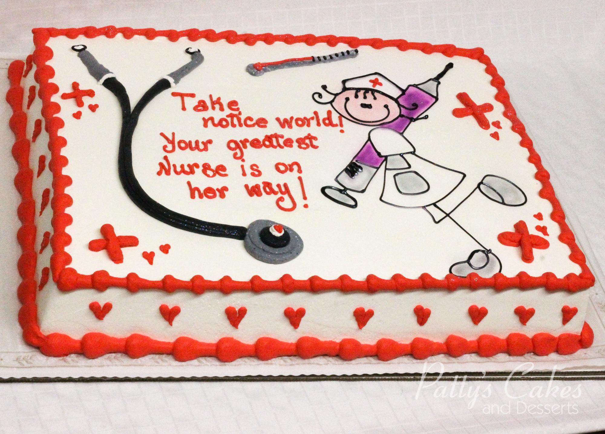 Graduation Sheet Cakes Photo of a nurse gradu...