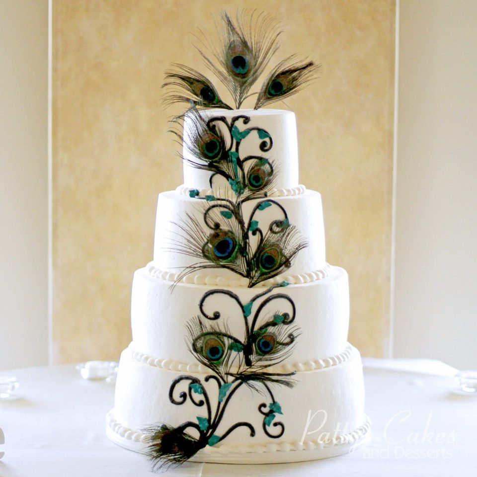 Peacock Wedding Cake.Photo Of A Peacock Wedding Cake Patty S Cakes And Desserts