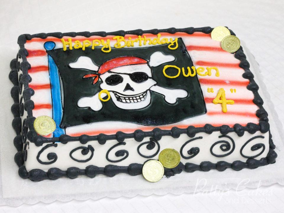 Photo Of A Pirate Cake Skull N Cross Bones Birthday Cake Pattys