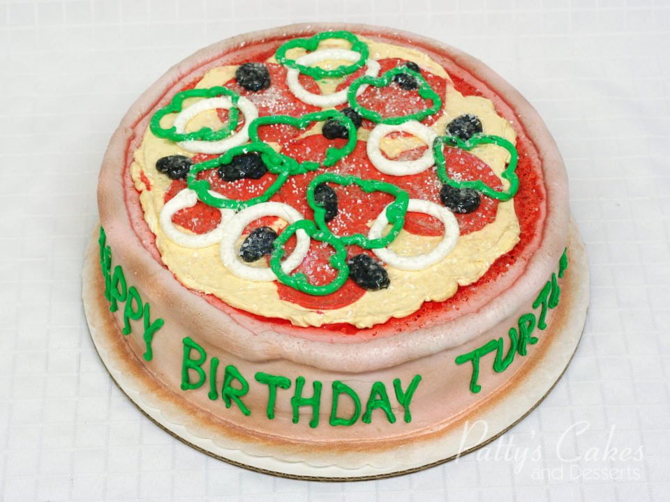 Fabulous Photo Of A Pizza Birthday Cake Pattys Cakes And Desserts Funny Birthday Cards Online Alyptdamsfinfo
