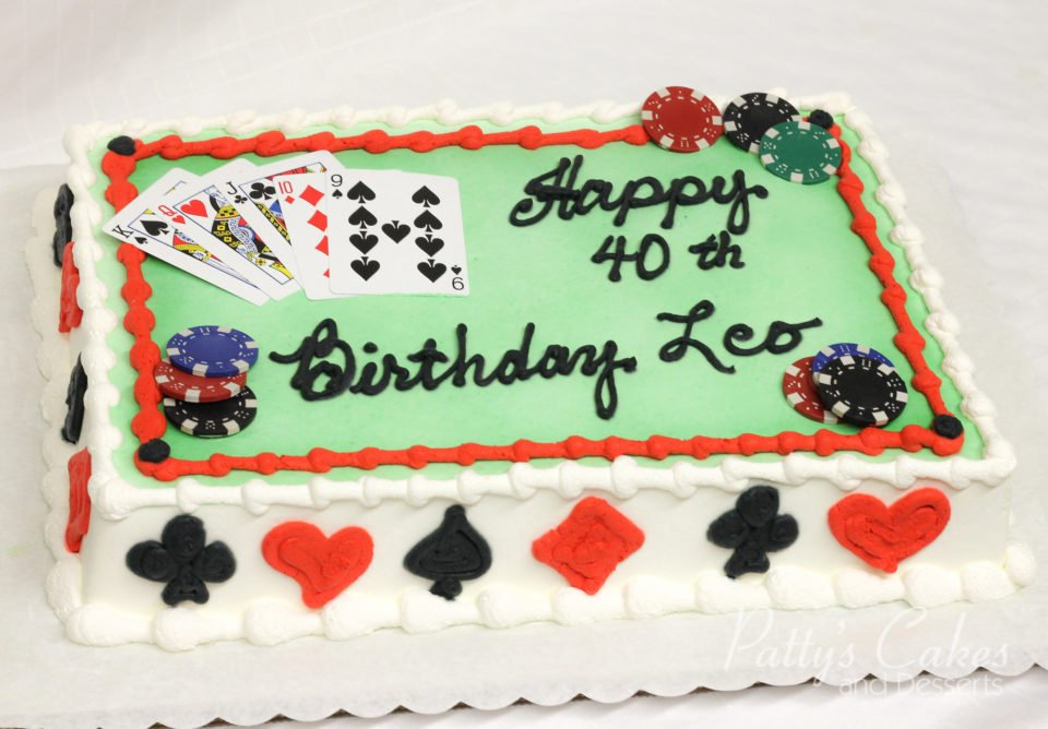 Peachy Photo Of A Poker Chips Birthday Cake Pattys Cakes And Desserts Funny Birthday Cards Online Unhofree Goldxyz