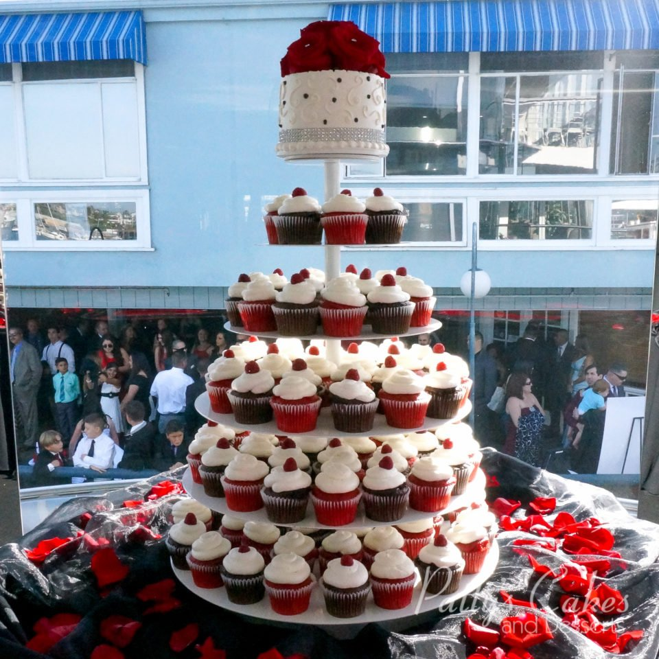 red black white wedding cake photo of a white black wedding cupcakes patty s 19119