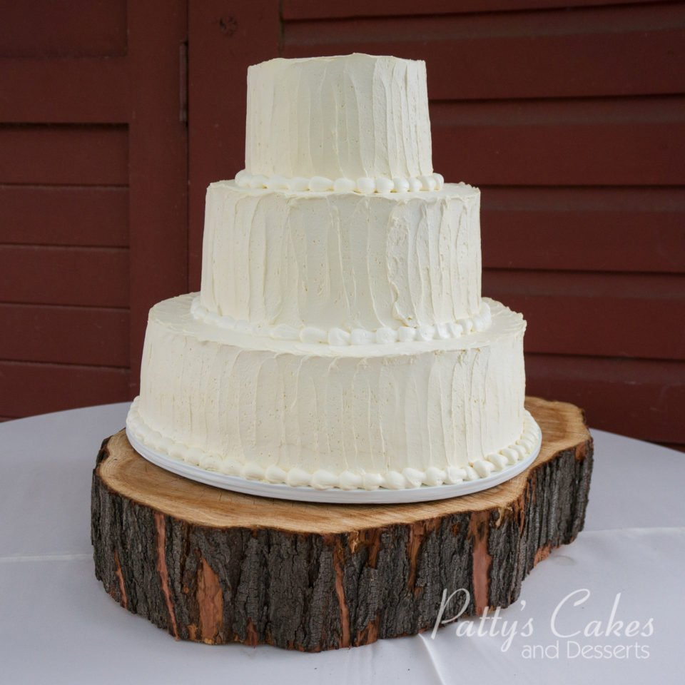 Rustic Barn Wedding Cakes: Photo Of A Rustic Barn Wedding Cake