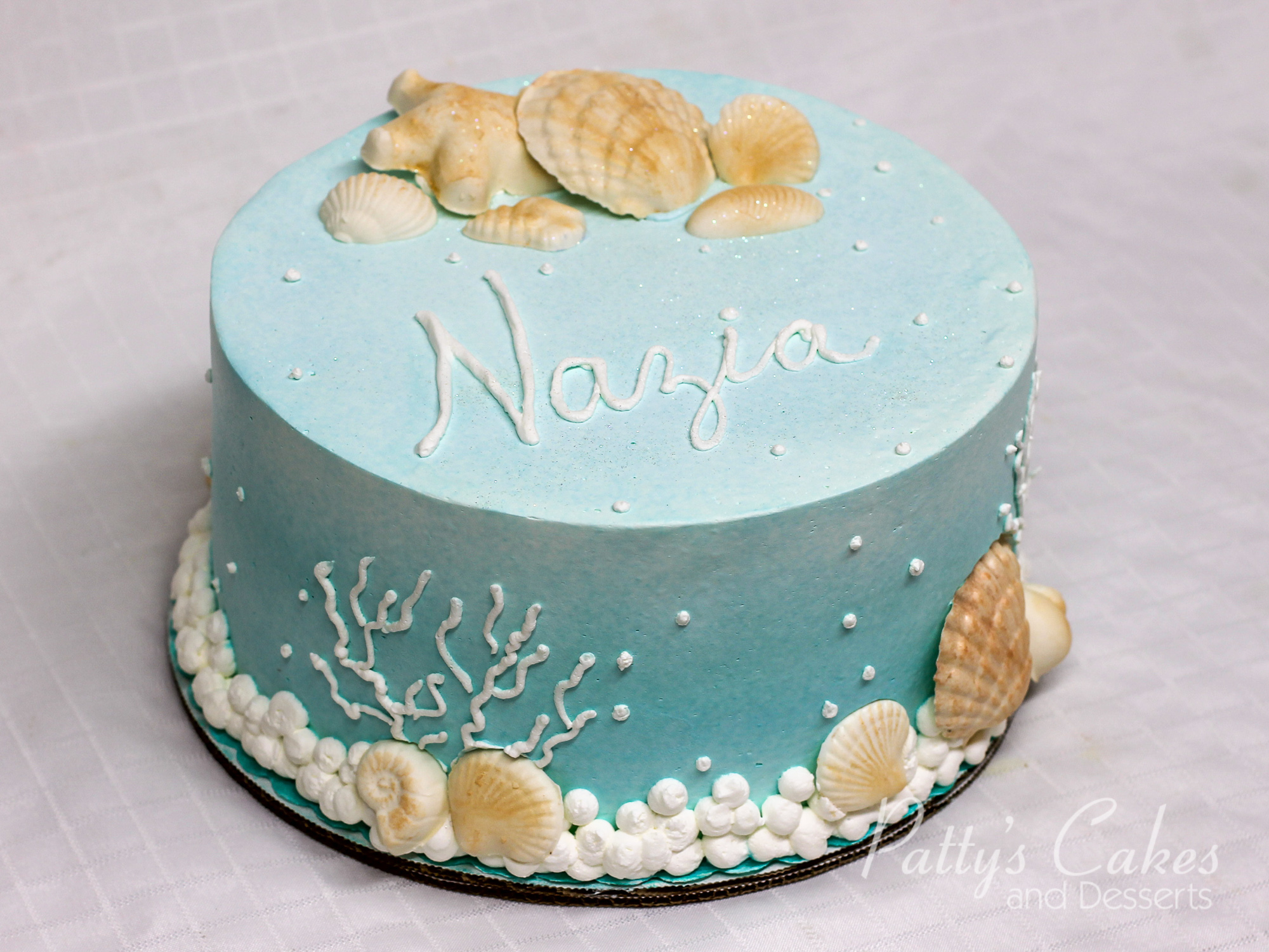 Photo Of A Simple Beach Shells Birthday Cake Patty S