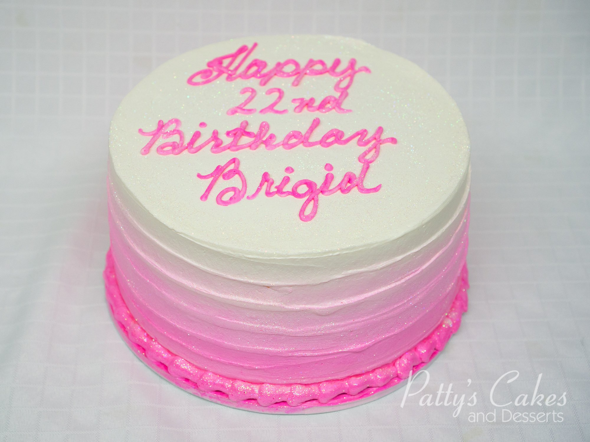 Photo Of A Simple Pink Ombre Birthday Cake Patty S Cakes
