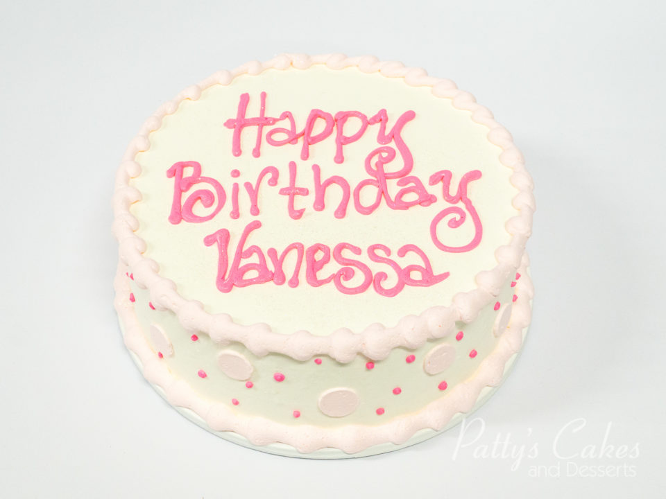Images Of Round Birthday Cake : Photo of a simple pink round birthday cake - Patty s Cakes ...