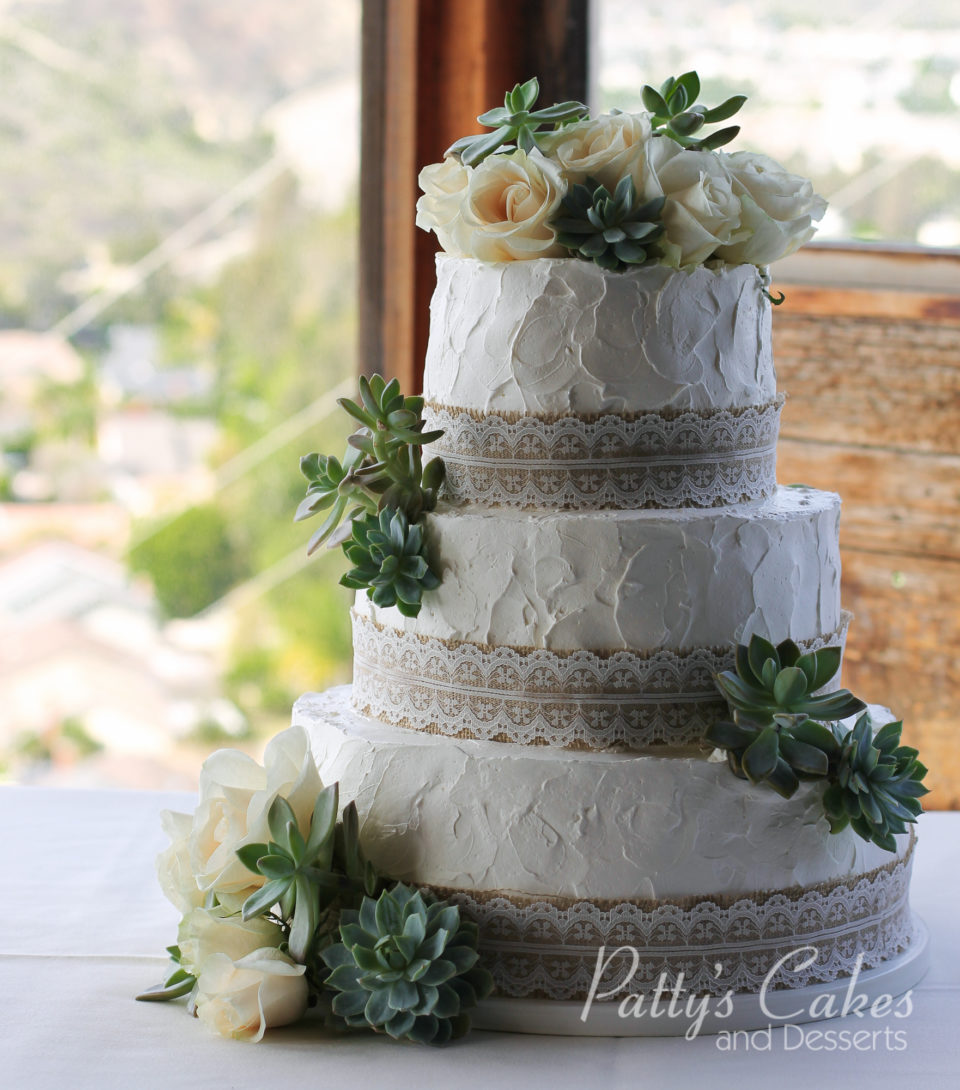Photo of a simple rustic wedding cake - Patty\'s Cakes and Desserts