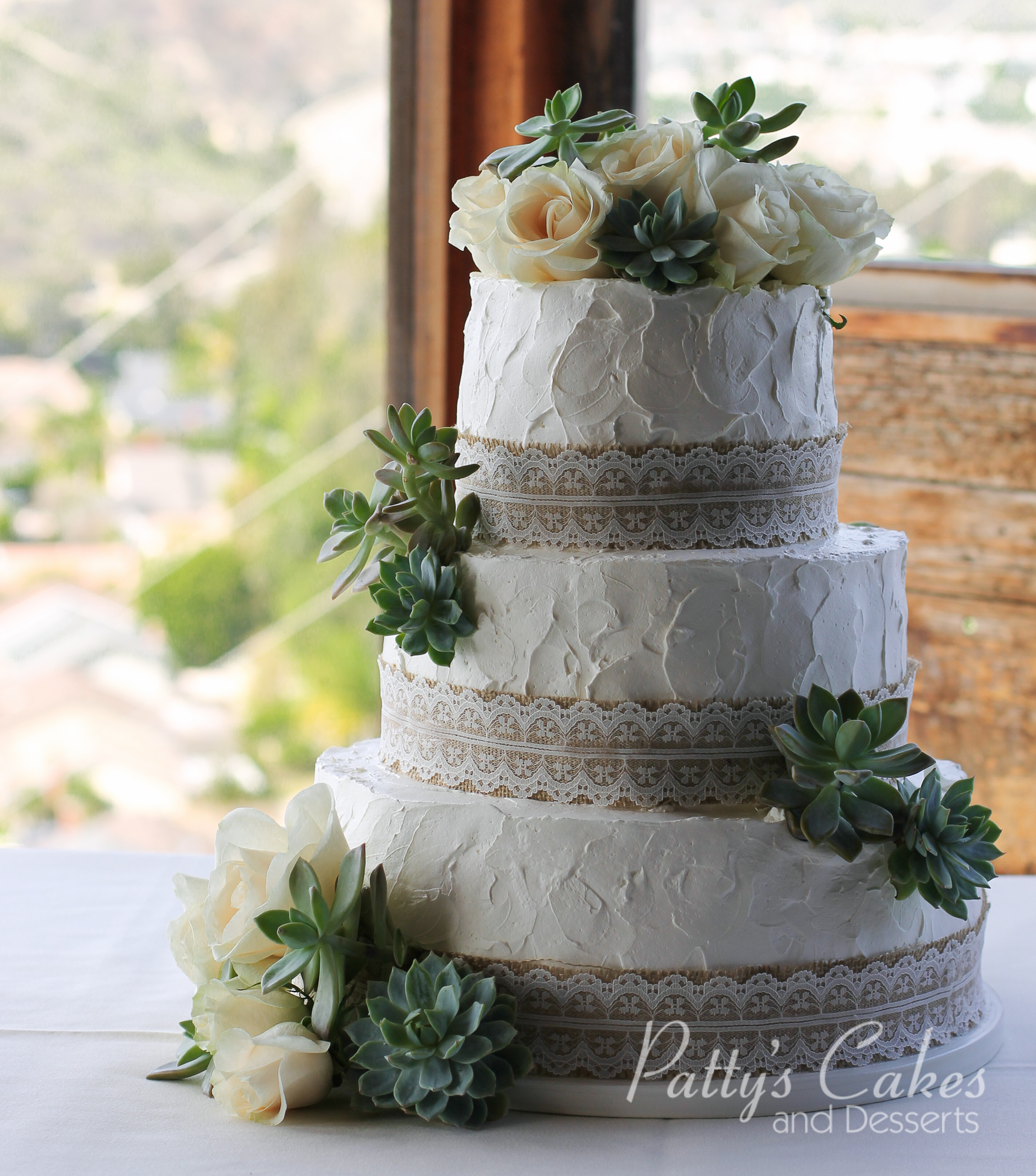 Simple Wedding Cakes: Photo Of A Simple Rustic Wedding Cake