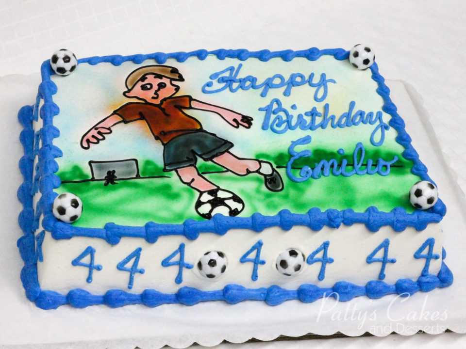 Superb Photo Of A Soccer Birthday Cake Pattys Cakes And Desserts Personalised Birthday Cards Paralily Jamesorg