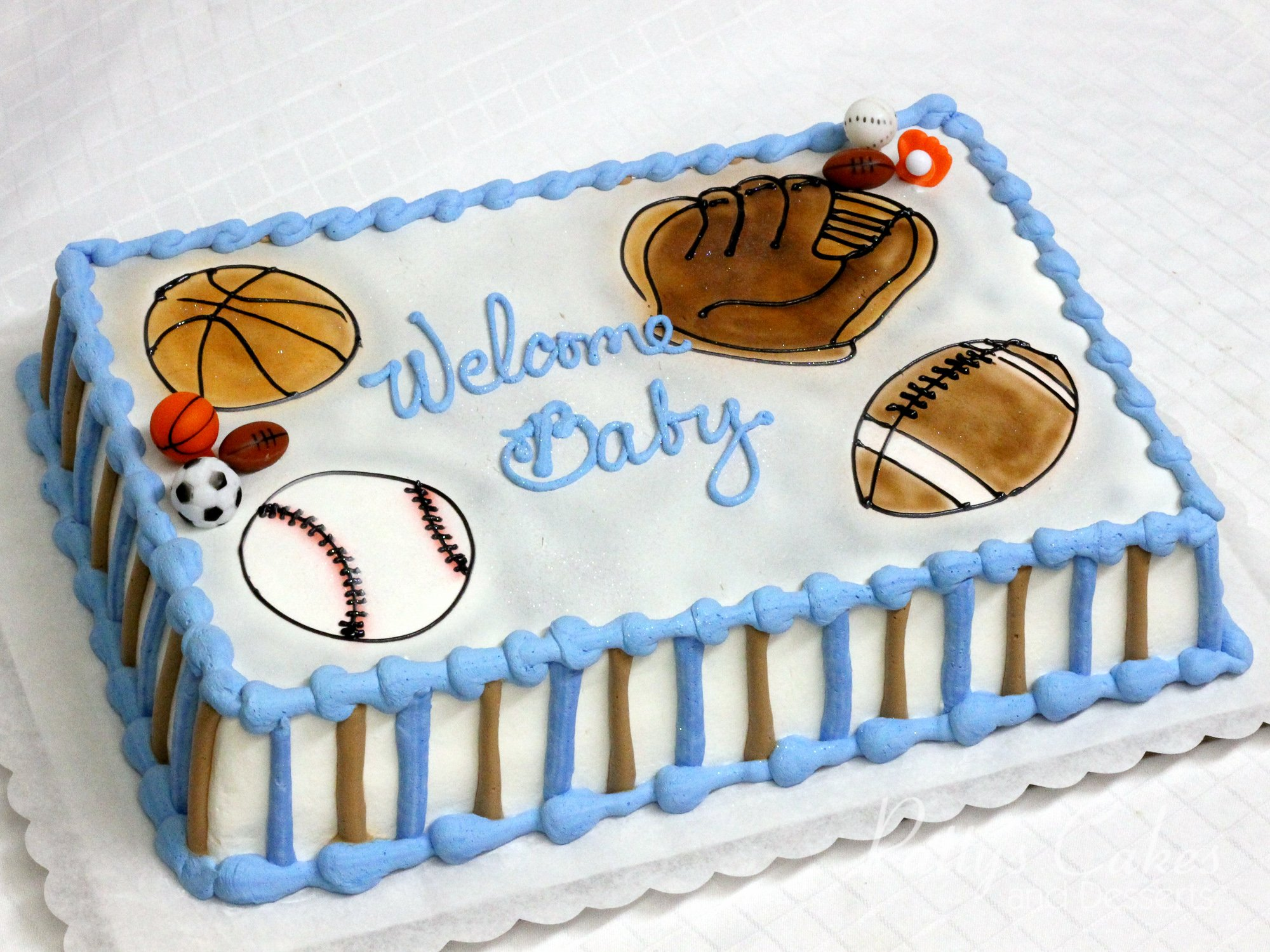 Photo Of A Sports Baby Shower Cake Patty S Cakes And