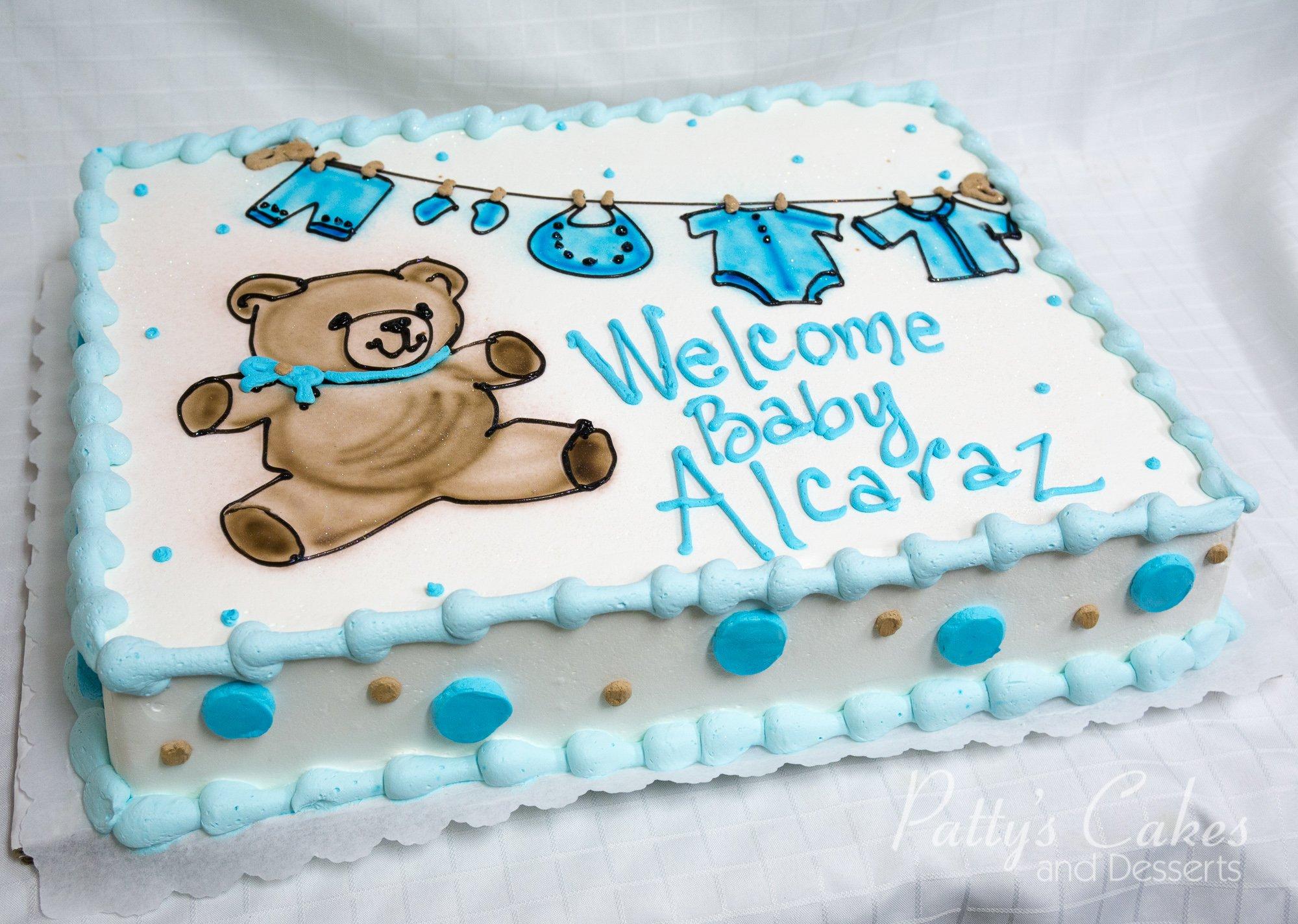 Photo Of A Teddy Bear Baby Shower Cake