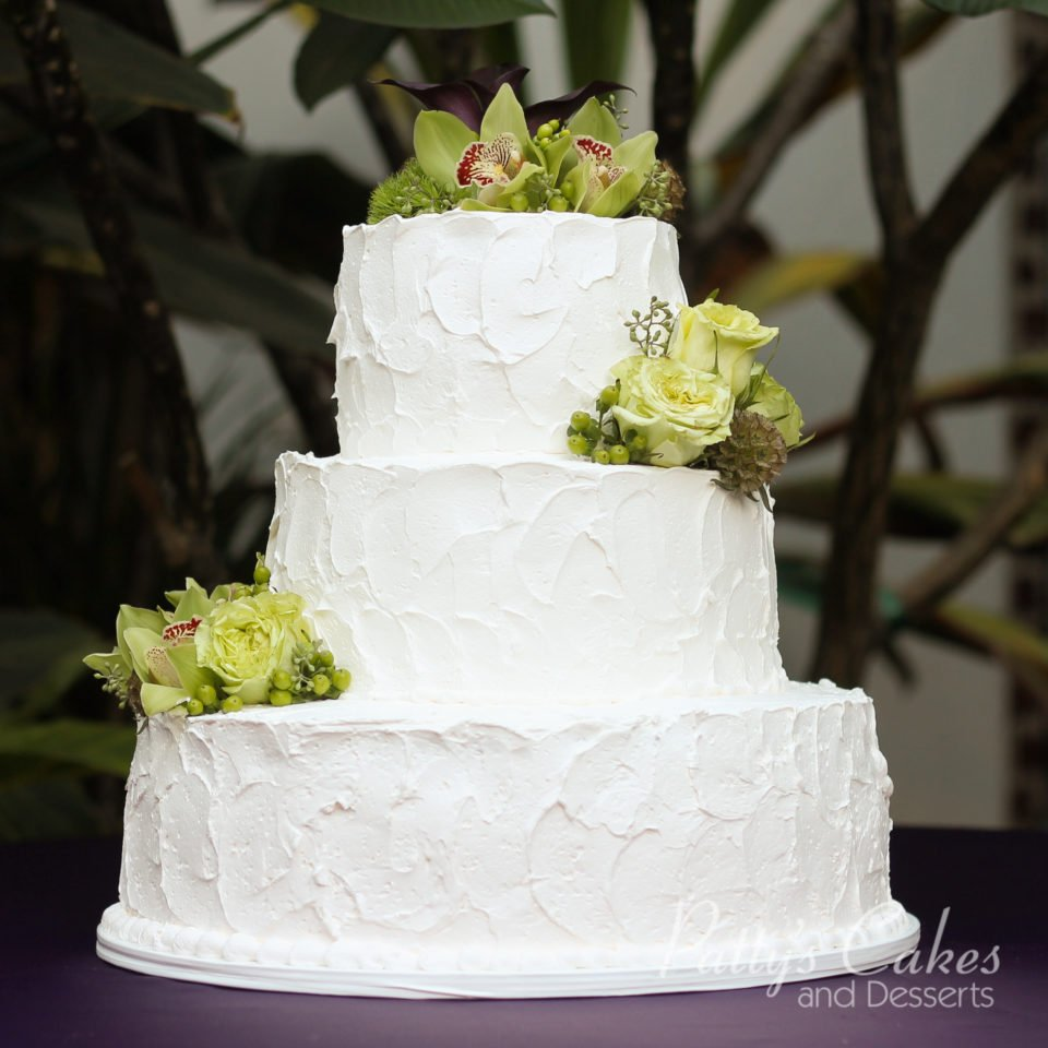 Photo Of A Wedding Cake 3 Tier Texture Homestyle Basic Round