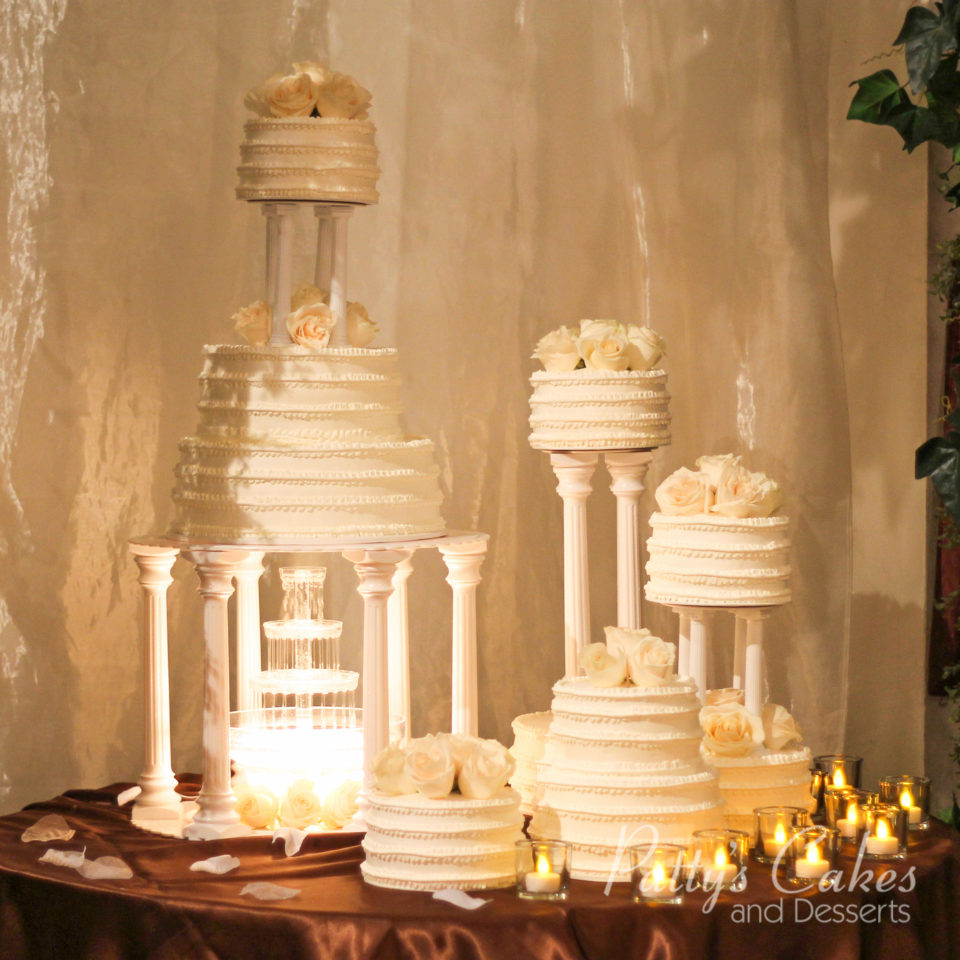Photo of a wedding cake fountain white - Patty\'s Cakes and Desserts