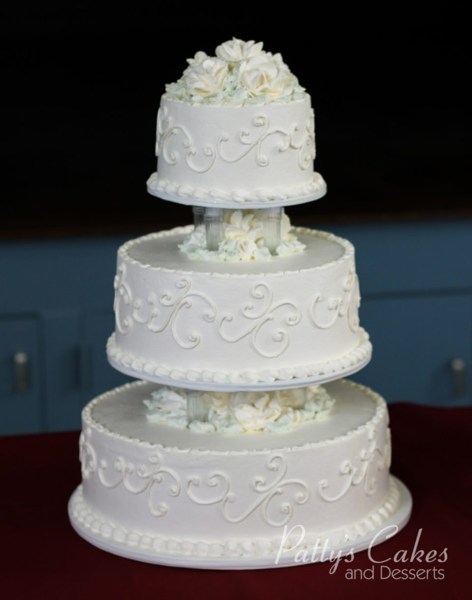 Photo of a wedding cake icing flowers - Patty\'s Cakes and Desserts