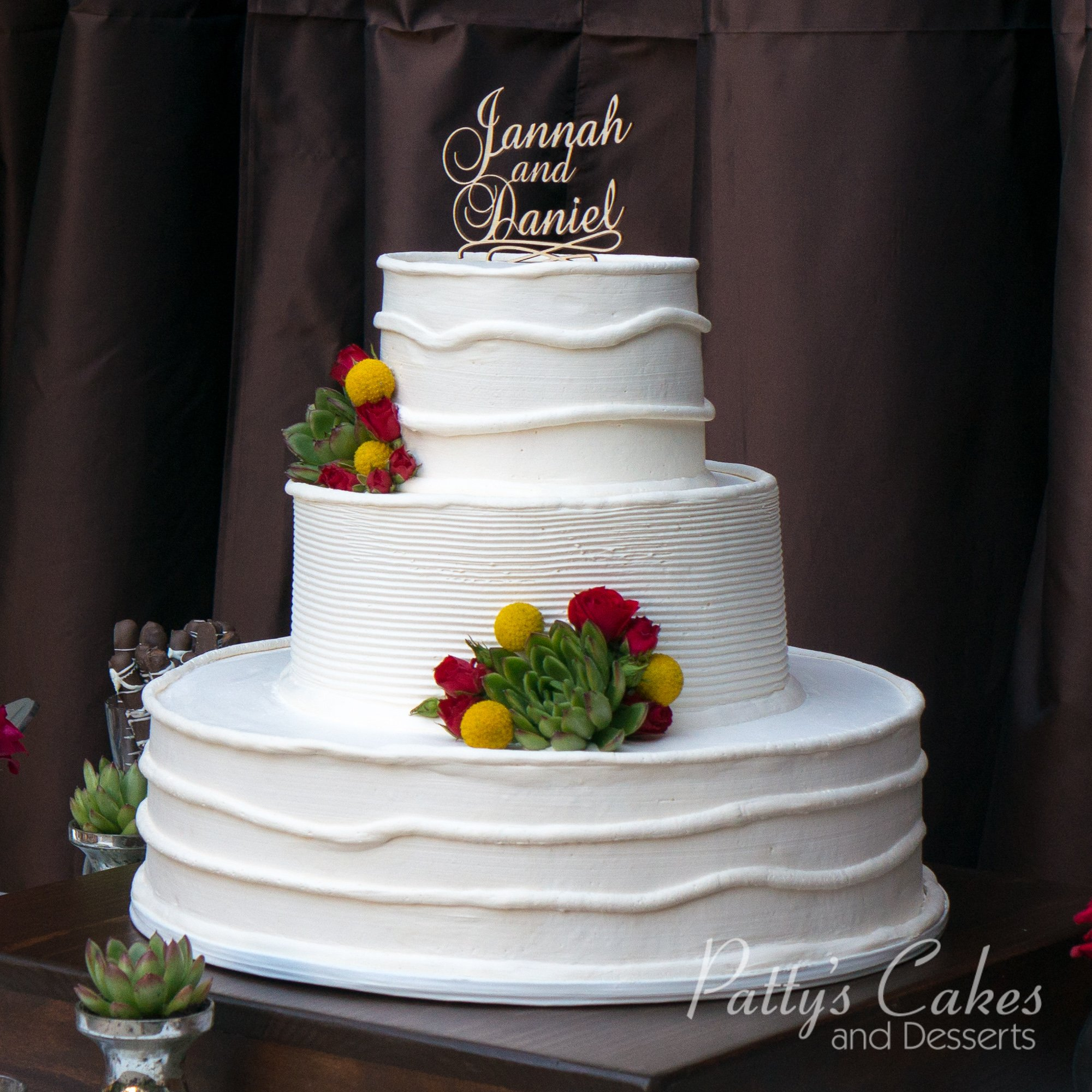 photo of a white outdoor wedding cake patty 39 s cakes and desserts. Black Bedroom Furniture Sets. Home Design Ideas