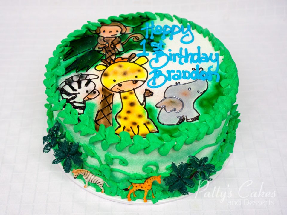 Astonishing Photo Of A Zoo Animal Round Birthday Cake Pattys Cakes And Desserts Funny Birthday Cards Online Alyptdamsfinfo