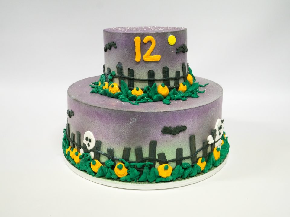 Photo Of A Halloween 2 Tier Birthday Cake Pattys Cakes And Desserts