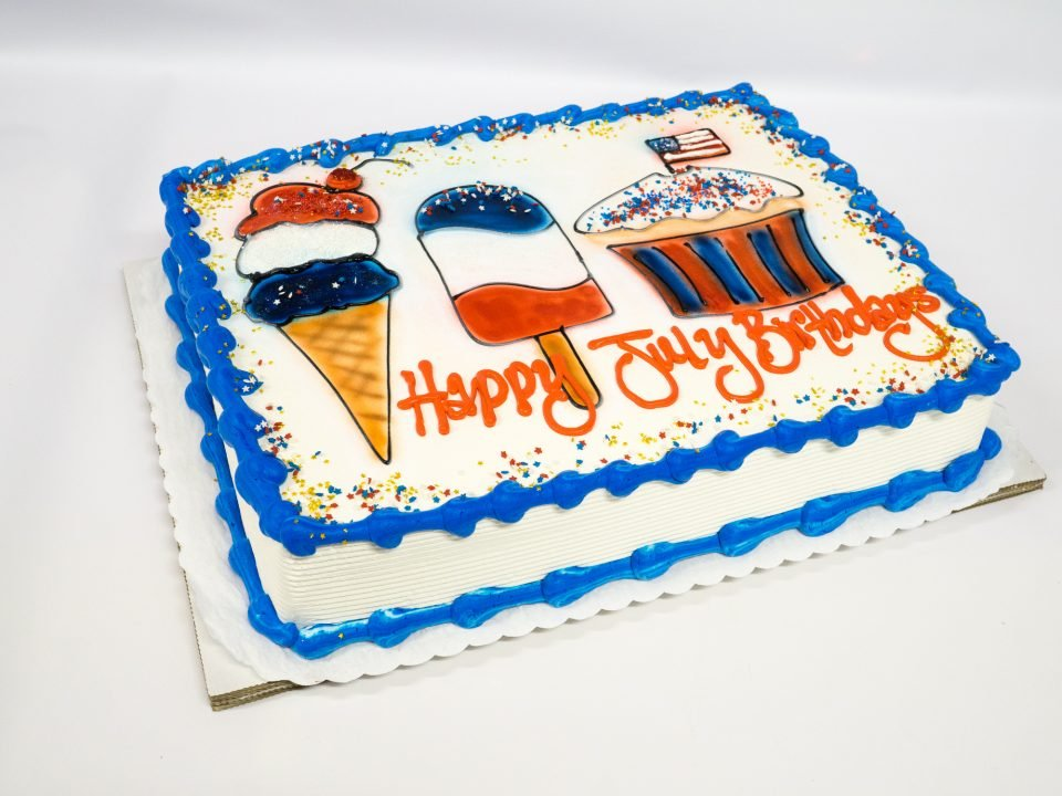 Terrific Photo Of A Happy July Birthdays Cake Pattys Cakes And Desserts Funny Birthday Cards Online Inifodamsfinfo