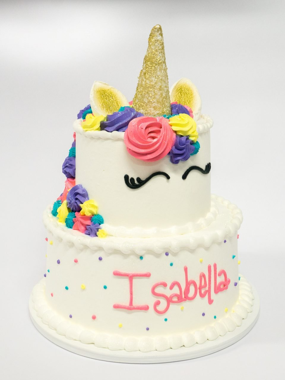 Brilliant Photo Of A Unicorn 2 Tier Cake Pattys Cakes And Desserts Personalised Birthday Cards Petedlily Jamesorg
