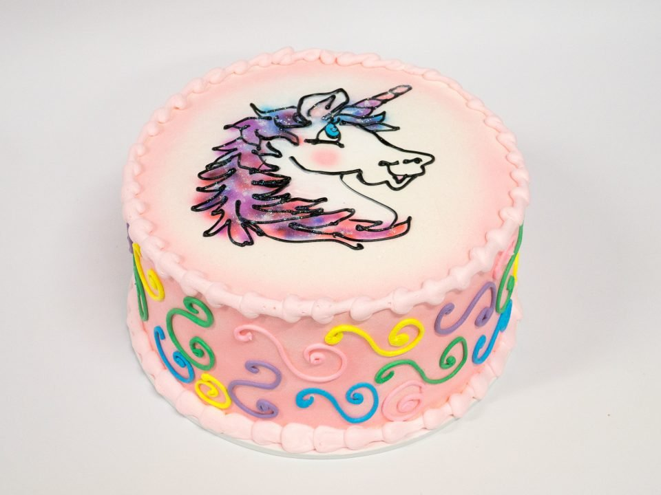 Brilliant Photo Of A Unicorn Colorful Birthday Cake Pattys Cakes And Desserts Funny Birthday Cards Online Fluifree Goldxyz