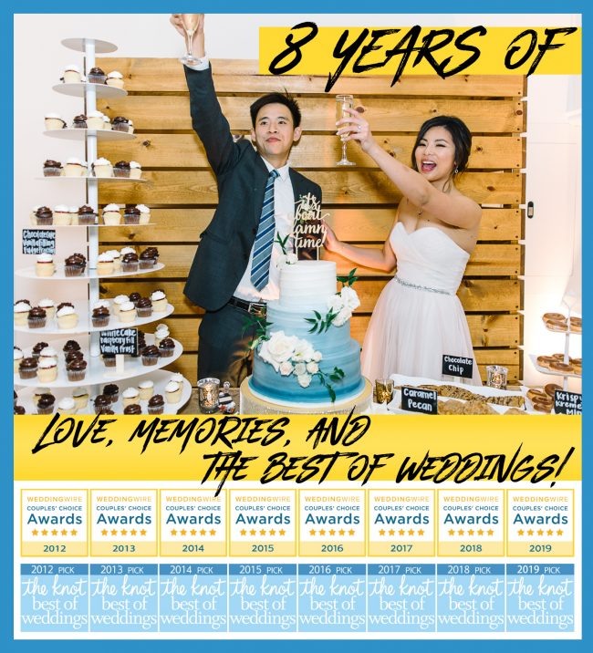 8 years of love, memories, and the best of weddings!